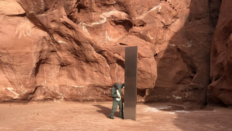 The mysterious monolith in Utah has disappeared and reappeared in...Romania?