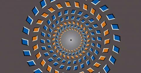 You can make this strange optical illusion move with your brain
