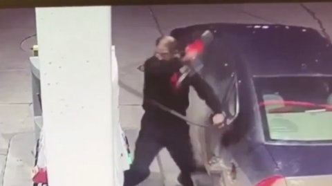This Canadian man has gone viral after absolutely losing it on a gas pump