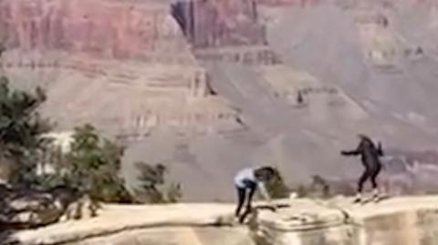 Two women nearly fell off a cliff trying to take a selfie