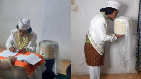Man marries rice cooker and divorces it after four days of marriage
