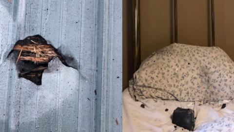 Woman awakes to meteor crashing into her bedroom